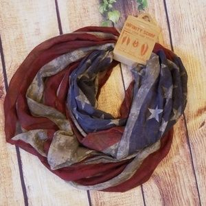 Accessories - NWT American Flag Infinity Scarf!